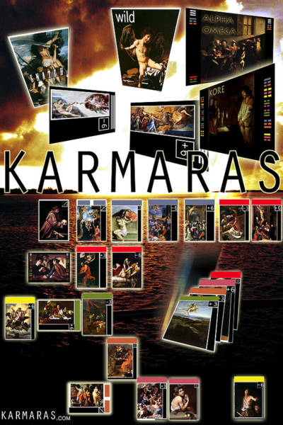 Painting - Karmaras Poster Baroque by John Jr Gholson