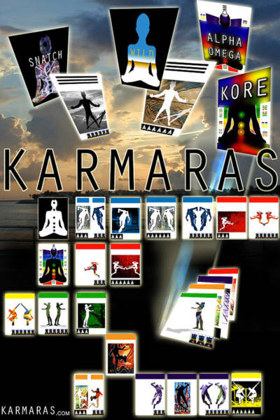 Painting - Karmaras Poster by John Jr Gholson