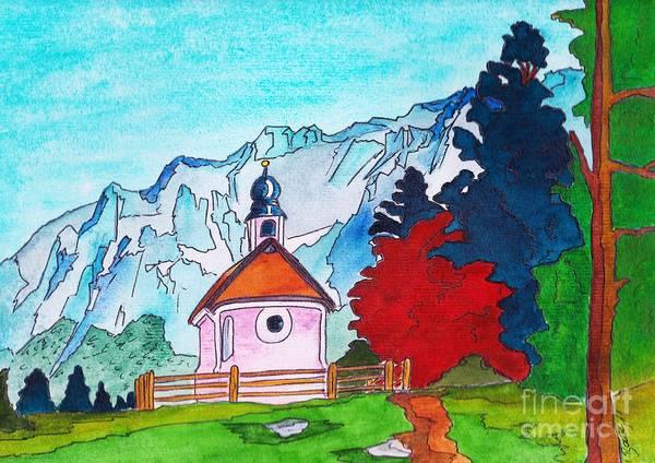 Bavarian Alps Painting - Karwendel by Michaela Bautz