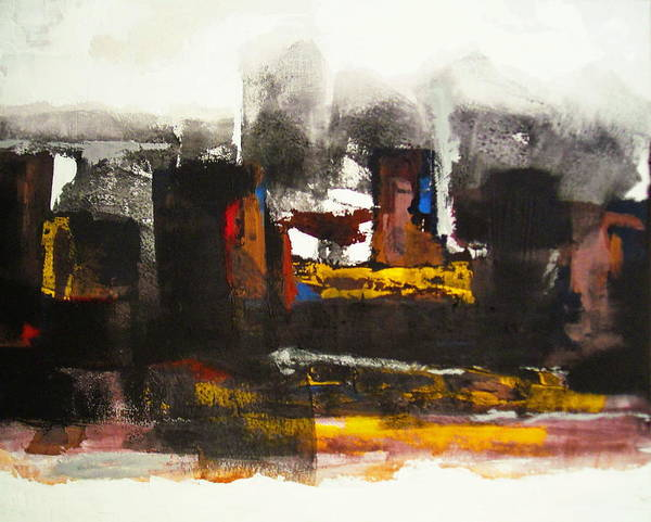 Painting - Kasbah by Mohamed KHASSIF