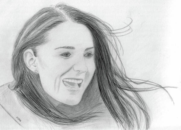 Drawing - Kate Middleton - Duchess Of Cambridge by Pat Moore