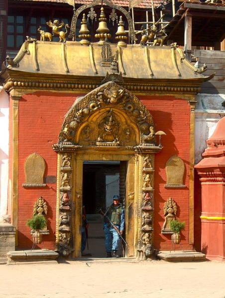 Door To Door Photograph - Kathmandu Temple by Dorota Nowak