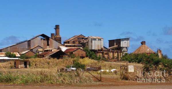 Photograph - Kauai Sugar Cane Factory by Jeanie Watson
