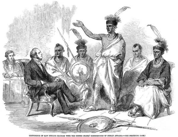 Delegation Photograph - Kaw: Delegates, 1857 by Granger
