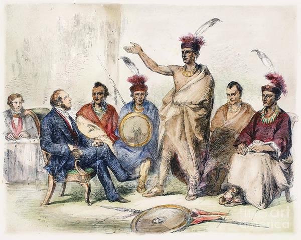 Delegation Photograph - Kaw Delegation, 1857 by Granger