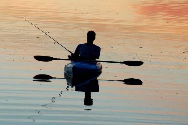 Photograph - Kayak Fisherman by Tam Ryan