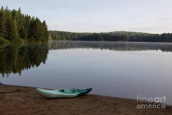 Treeline Photograph - Kayak On Pog Lake by Chris Hill