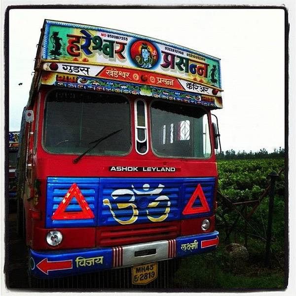 Transport Photograph - Keep On Trucking #truck #india #nasik by Richard Randall