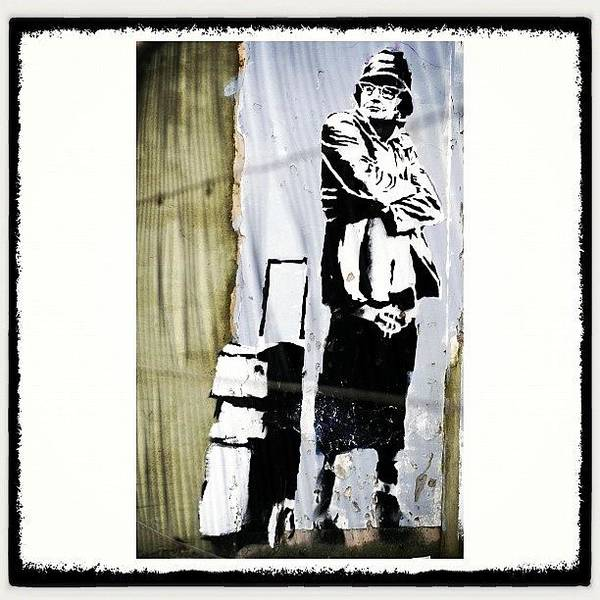Drawing Wall Art - Photograph - Keeping It Old School#banksy #stencil by A Rey