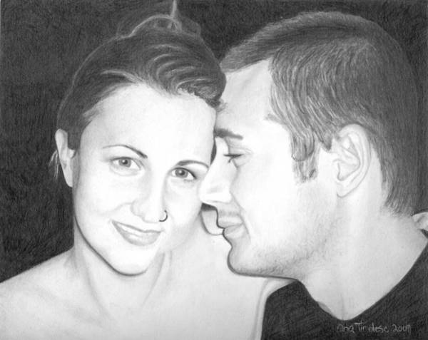 Drawing - Kelly And Chris Lanktree by Ana Tirolese