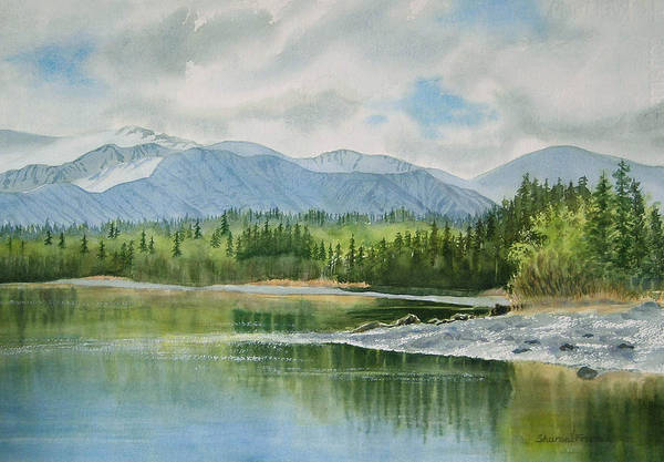 Freeman Wall Art - Painting - Kenai Lake Early Morning Spring by Sharon Freeman