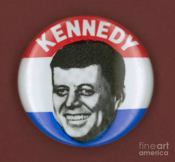 Photograph - Kennedy Campaign Button by Granger