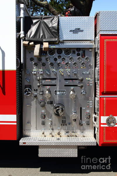 Fdny Photograph - Kensington Fire District Fire Engine Control Panel . 7d15856 by Wingsdomain Art and Photography