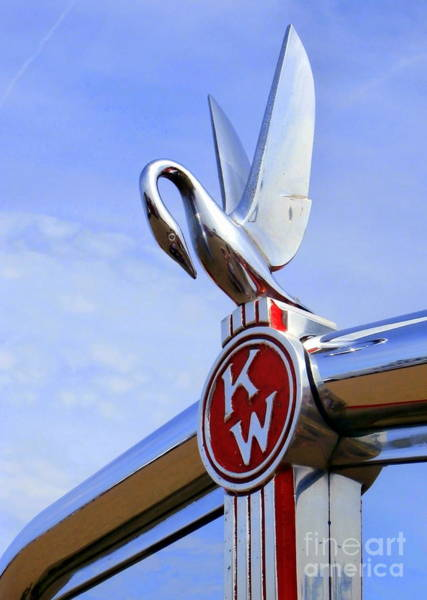 Hood Ornament Photograph - Kenworth Insignia And Swan by Karyn Robinson