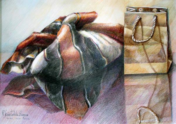 Indian Corn Drawing - Kepi Con Bolsa by Sonia Tudela