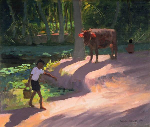 India Painting - Kerala Backwaters by Andrew Macara