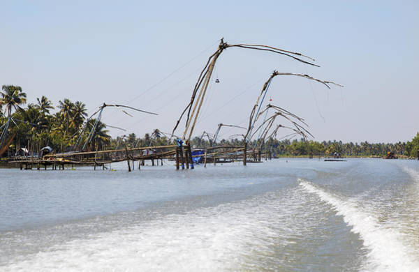 Bankside Photograph - Kerala Backwaters Fishing by Kantilal Patel