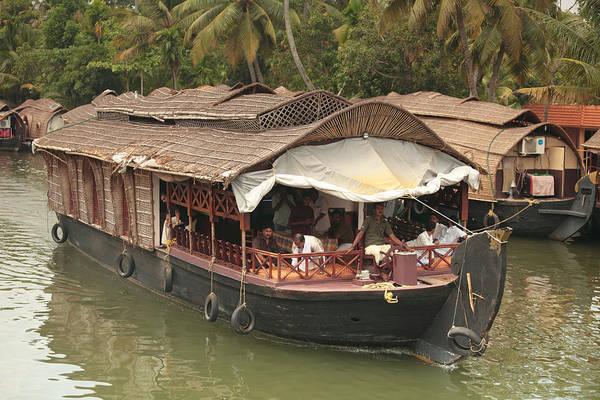Photograph - Kerala House Boats by Paul Cowan