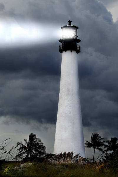 Key Biscayne Photograph - Key Biscayne Lighthouse by Rudy Umans