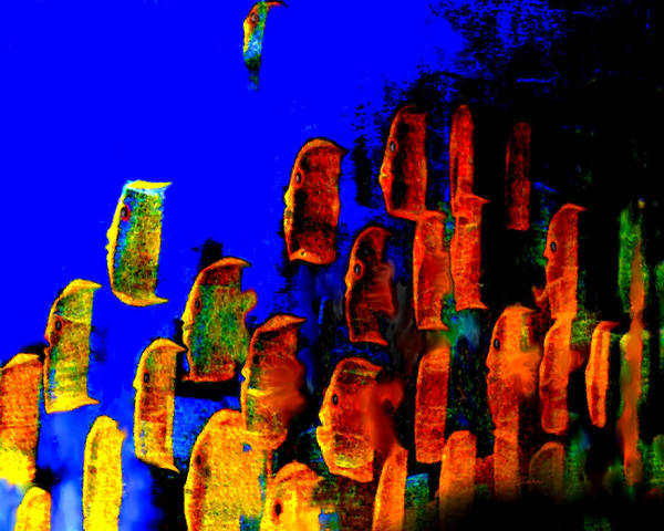 Reef Diving Digital Art - Key Largo Reefers  by Charles Carlos Odom