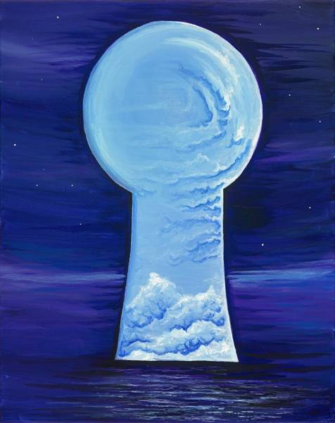 Wall Art - Painting - Keyhole by David Junod
