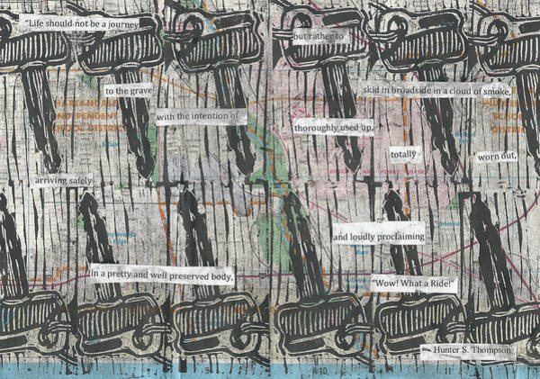 Drawing - Keys On Map by William Cauthern