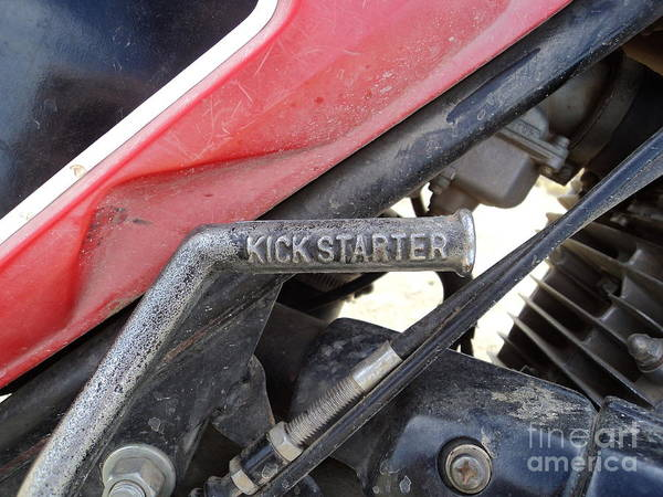 Dirtbike Photograph - Kick Starter by Dirk Barnhart