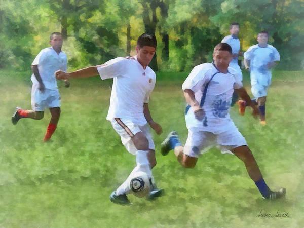 Photograph - Kicking Soccer Ball by Susan Savad