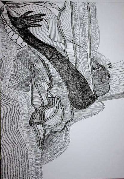 Drawing - Kiganda Dance  by Gloria Ssali