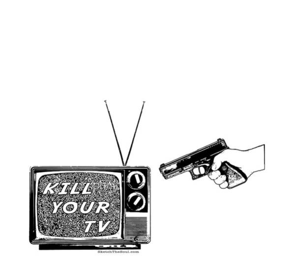 Mixed Media - Kill Your Tv by Tony Koehl