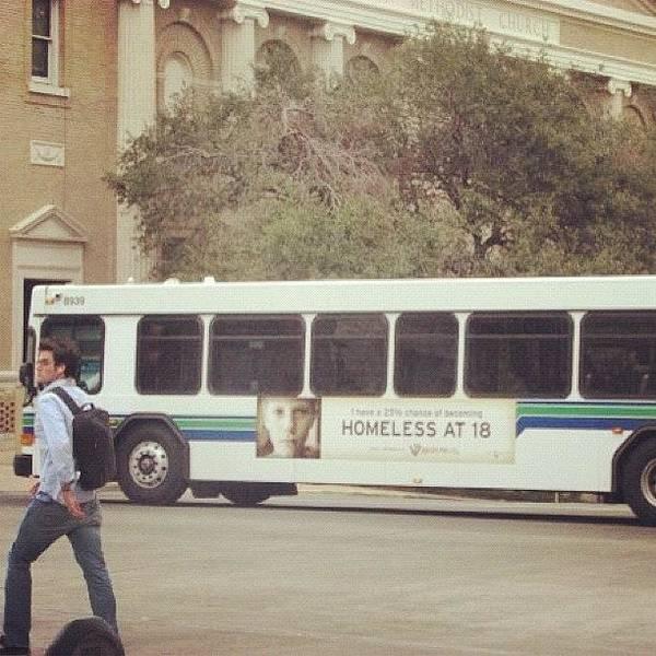 Bus Photograph - Kind Of Poetic Really #bus #austin by Thomas Hallmark