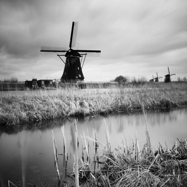 Windmills Photograph - Kinderdijk 02 by Nina Papiorek