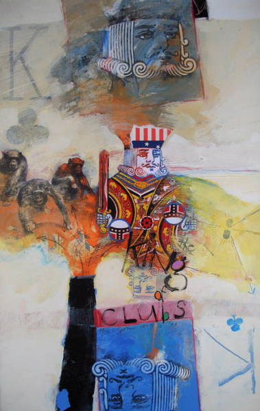 Painting - King Of Clubs by Cliff Spohn