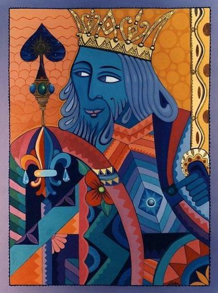Painting - King by Richard Laeton