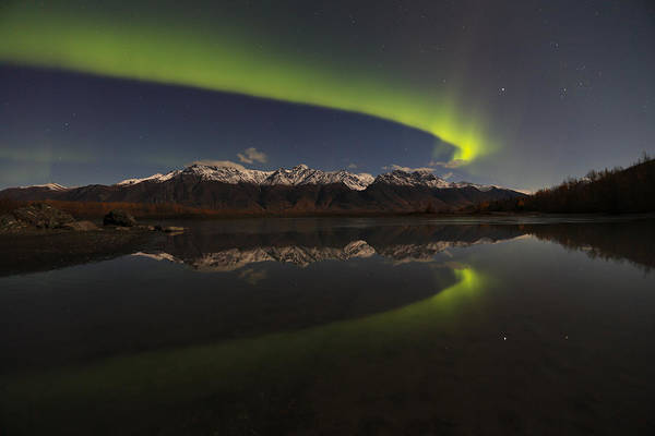 Knik Alaska Northern Lights Art Print by Sam Amato