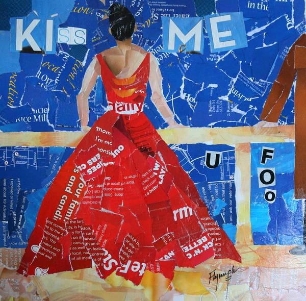 Paper Dress Mixed Media - Kiss Me by Lynn Chatman