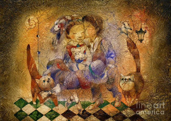Wall Art - Mixed Media - Kiss by Svetlana and Sabir Gadghievs