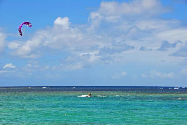 Photograph - Kitesurfing In Kauai II by Lynn Bauer