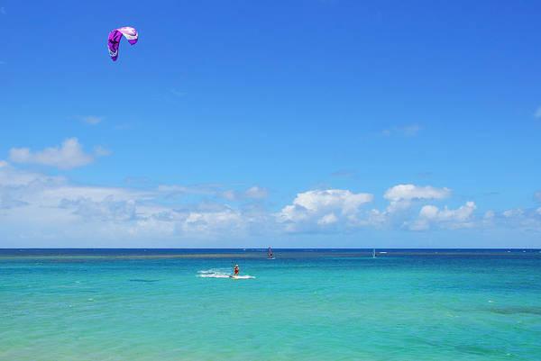 Photograph - Kitesurfing In Kauai by Lynn Bauer
