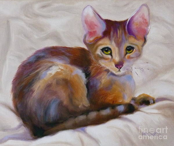 Wall Art - Painting - Kitten Princess by Susan A Becker