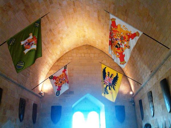 Photograph - Knight Rider Flags At Segovia Castle Artillery Academy In Spain by John Shiron