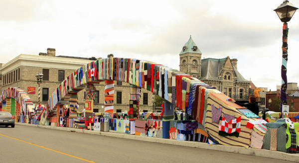 Photograph - Knit Art On The Bridge by Nick Mares