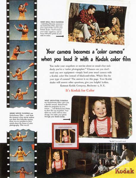 Photograph - Kodak Advertisement, 1948 by Granger