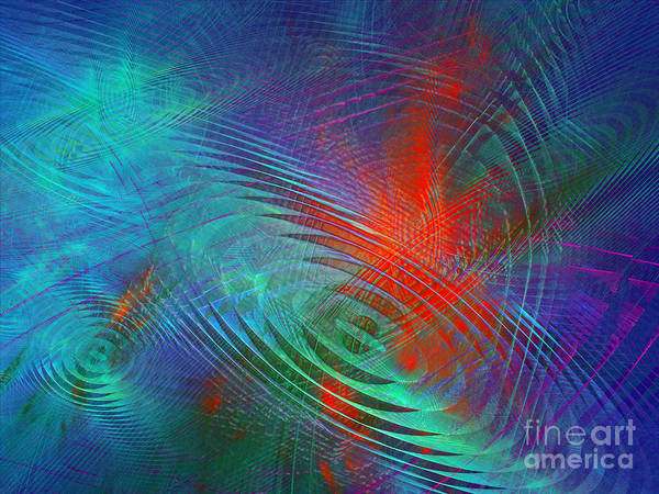Digital Art - Koi Pond Abstract by Andee Design