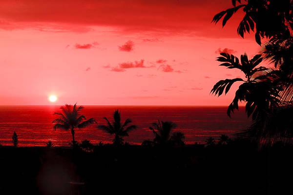 Photograph - Kona Sunset 1 by Tony and Kristi Middleton