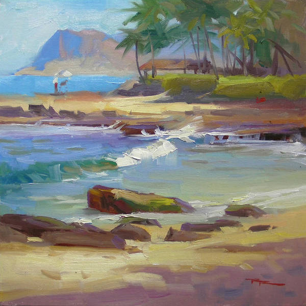 Wall Art - Painting - Ko'olina Lagoon by Richard Robinson