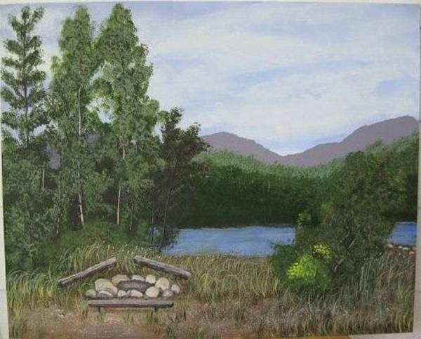 Painting - Kootenay Lake Bc by Lorraine Bradford