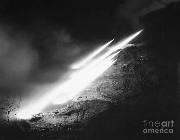 Photograph - Korean War: Rocket Launch by Granger