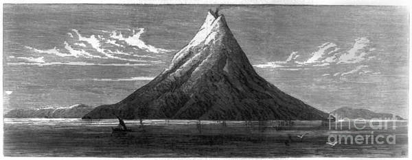 Photograph - Krakatau: Volcano by Granger