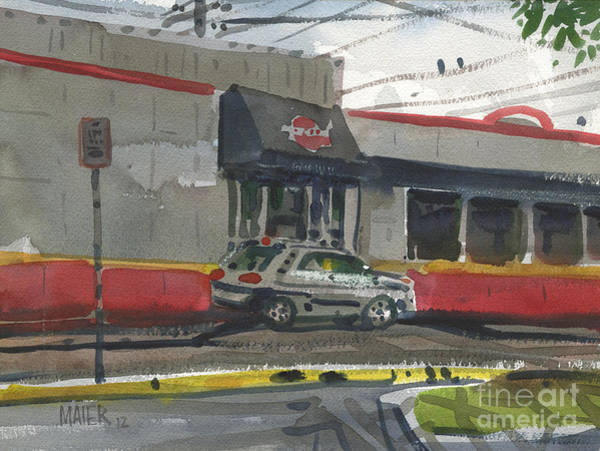Fast Food Wall Art - Painting - Krystal Drive-thru by Donald Maier